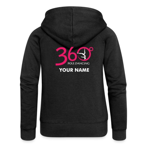 Black Hoody Jacket PERSONALISED - Women's Premium Hooded Jacket