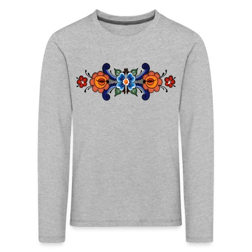 Rosemaling Kids - Premium langermet T-skjorte for barn