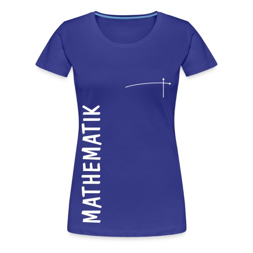 FS Mathe OL Damen Mathematik Schnitt 2 Königsblau mit Graph - Frauen Premium T-Shirt