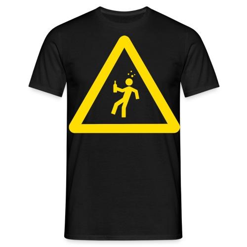Starkstrom Alkoholiker - Männer T-Shirt - mit Schriftzug - Männer T-Shirt