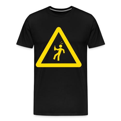 Starkstrom Alkoholiker - Premium Männer T-Shirt - mit Schriftzug - Männer Premium T-Shirt