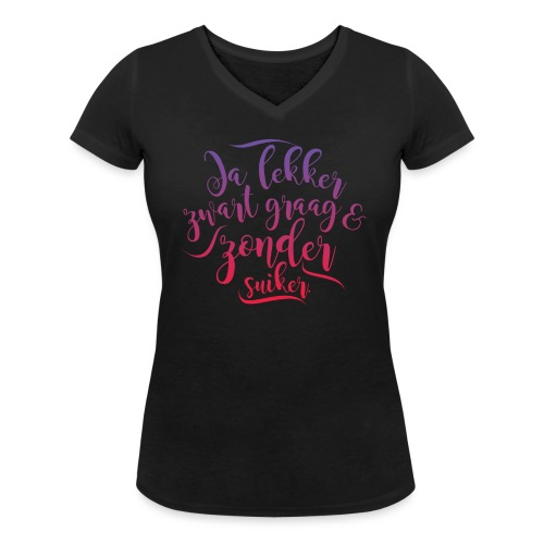 Ja lekker vrouwen v-hals bio - Vrouwen bio T-shirt met V-hals van Stanley & Stella