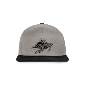 Surreal sea turtle Caps & Hats - Snapback Cap