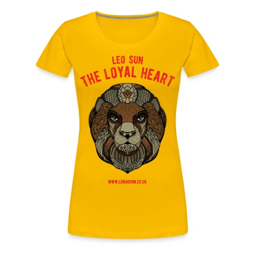 Leo Sun Sign Women's Premium T-Shirt - Women's Premium T-Shirt