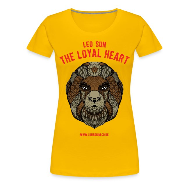 Leo Sun Sign Women's Premium T-Shirt