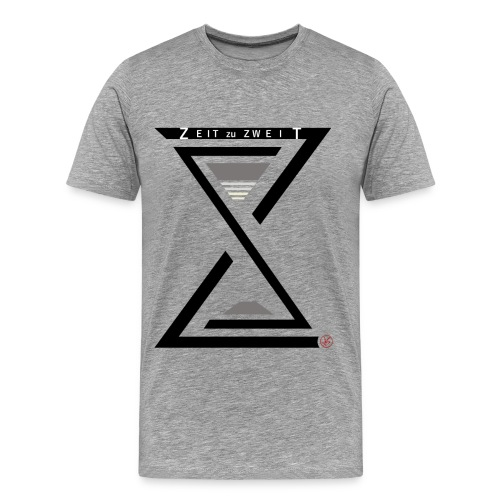 Men Shirt Zeit zu Zweit by iKAB grey  - Männer Premium T-Shirt
