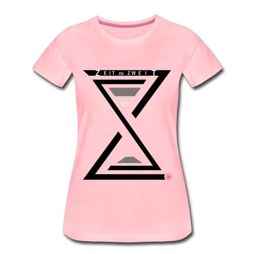 Girlie Shirt Zeit zu Zweit by iKAB pink - Frauen Premium T-Shirt