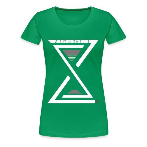 Girlie Shirt Zeit zu Zweit by iKAB green - Frauen Premium T-Shirt