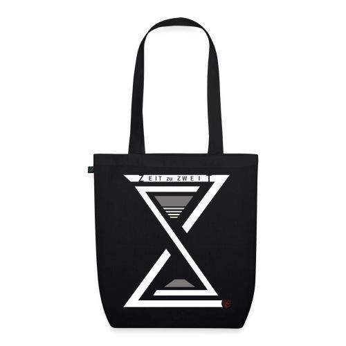 Shopping Bag Zeit zu Zweit by iKAB black - Bio-Stoffbeutel