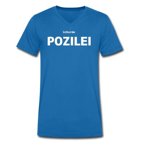 Männer T-Shirt mit V-Ausschnitt - Special Edition - POZILEI - blau - Männer Bio-T-Shirt mit V-Ausschnitt von Stanley & Stella