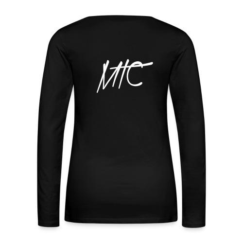 MTC T-shirt Long Sleeve (White Print, Women) - Vrouwen Premium shirt met lange mouwen