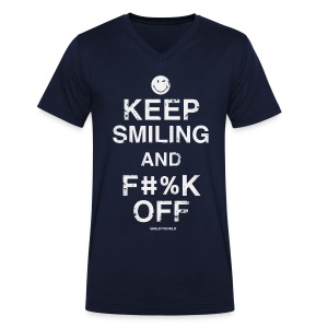 SmileyWorld Keep Smiling And F**k Off - T-shirt Homme col V
