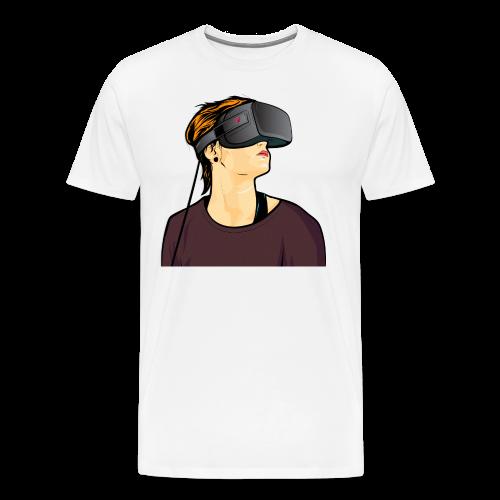 Virtual-Reality-Girl - Männer Premium T-Shirt
