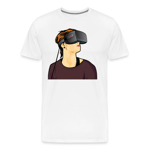 Virtual-Reality-Girl - Männer Premium T-Shirt