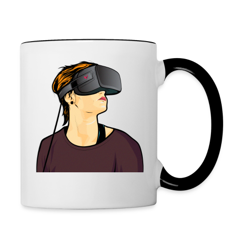 Virtual-Reality-Girl - Tasse zweifarbig