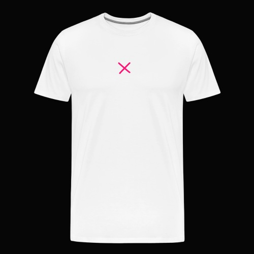 XYMX WHITE SMALL LOGO TEE - Men's Premium T-Shirt