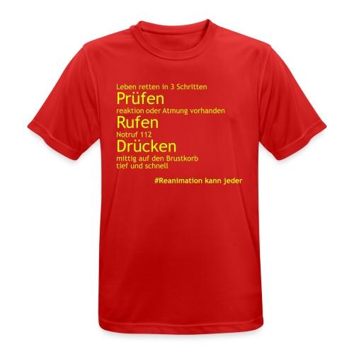 T-Shirt Leben Retten - Männer T-Shirt atmungsaktiv