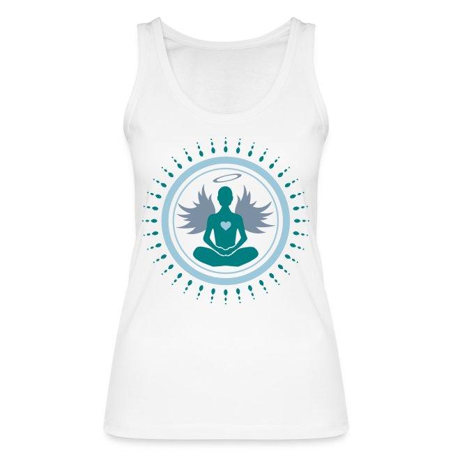 Débardeur bio pour femmes Ange en position de méditation