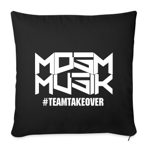 MDSM MUSIK - Standard Sofa Pillow Cover Black  - Sofa pillow cover 44 x 44 cm