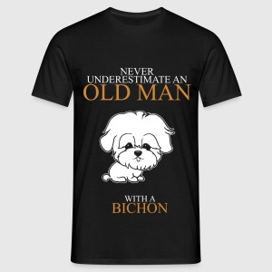 Never Underestimate An Old Man Bichon.png T-Shirts - Men's T-Shirt