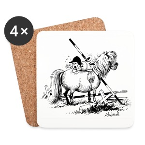 Thelwell Penelope is angry - Coasters (set of 4)