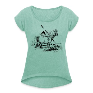 Thelwell Penelope is angry - Women's T-shirt with rolled up sleeves