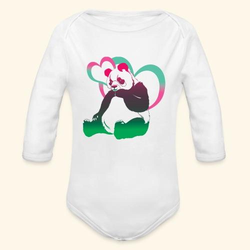Pandi panda III - Body Bébé bio manches longues