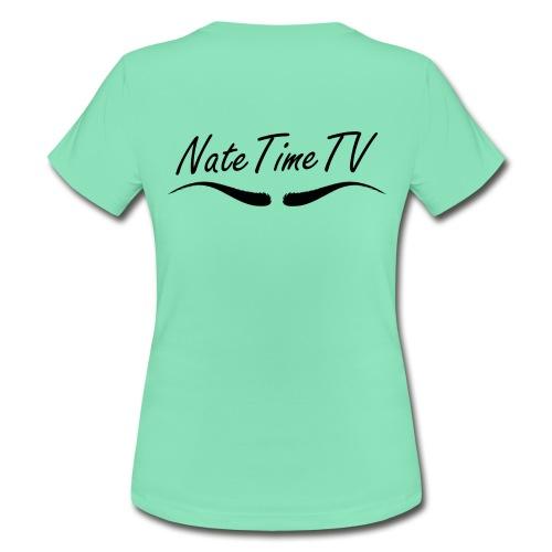 NateTimeTV face on front, eyebrows on back Womens Tshirt - Women's T-Shirt
