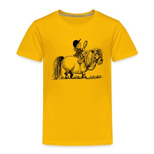 Thelwell - Penelope with mirror - Kids' Premium T-Shirt