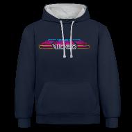 Hoodies & Sweatshirts ~ Contrast Colour Hoodie ~ VintageVideo