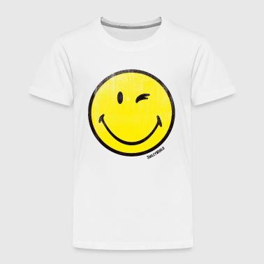 SmileyWorld Zwinkernder Smiley Used Look - Kinder Premium T-Shirt