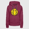 SmileyWorld Zwinkernder Smiley Used Look - Frauen Premium Hoodie