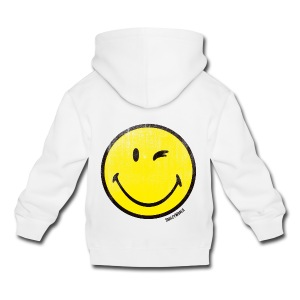 SmileyWorld Zwinkernder Smiley Used Look - Kinder Premium Hoodie