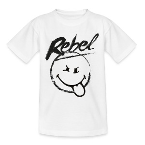 SmileyWorld Rebel Rebellischer Smiley - Teenager T-Shirt