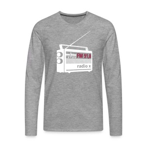 radio x - weiß - Männer Premium Langarmshirt