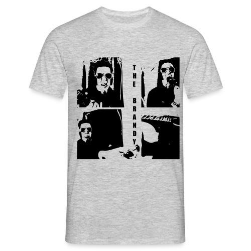 The Brandy Schwarz in Grau - Männer T-Shirt