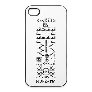 Coque rigide iPhone 4/4s  Nuréa TV Message - Black - Coque rigide iPhone 4/4s