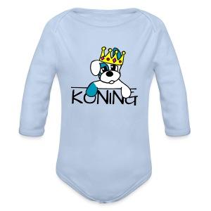 Hondje koning - Baby bio-rompertje met lange mouwen