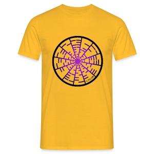 Tee Shirt Coupe Classique Homme  Nuréa TV  Crop Circle Sound- Purple - T-shirt Homme