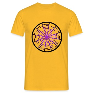 Tee Shirt Coupe Classique Homme  Nuréa TV  Crop Circle Sound- Purple - T-shirt Homme