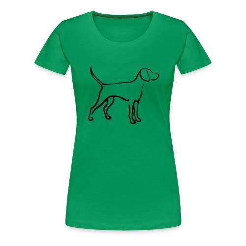 T-shirt pink Weimaraner - Frauen Premium T-Shirt