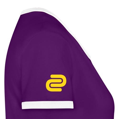 Women's David Cutter Music Logo T-Shirt Purple - Women's Ringer T-Shirt