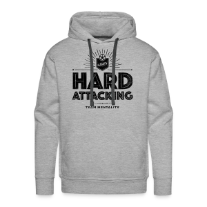 Men's Hard Attacking Hoodie - Gray - Men's Premium Hoodie