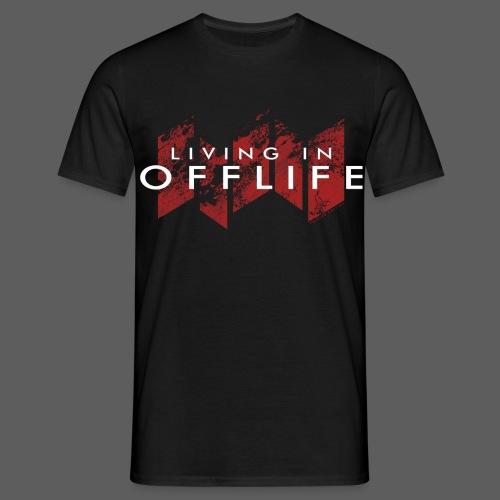 Living in OFFLIFE (male, black) - Männer T-Shirt