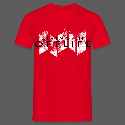 Living in OFFLIFE (male, red) - Männer T-Shirt