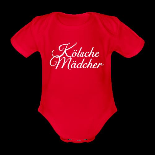 Kölsche Mädcher Classic (Weiß) Babybody - Baby Bio-Kurzarm-Body