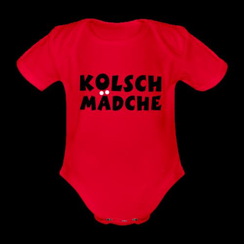 Kölsch Mädche met Ö un Ä (Schwarz/Weiß) Babybody - Baby Bio-Kurzarm-Body