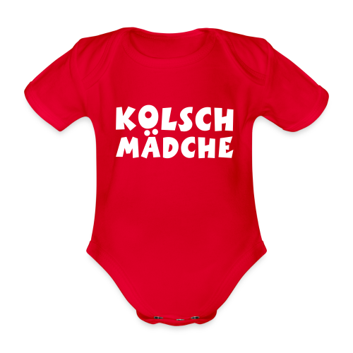 Kölsch Mädche met Ö un Ä (Weiß) Babybody - Baby Bio-Kurzarm-Body