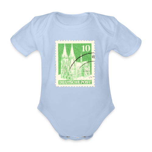 Köln Briefmarken (1948 Grün) Babybody - Baby Bio-Kurzarm-Body