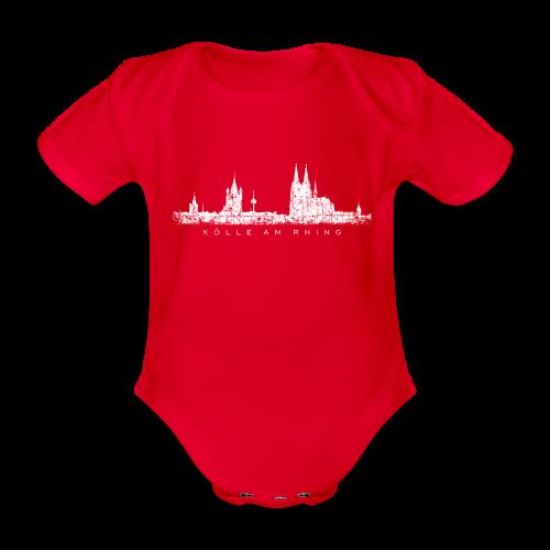 Kölle am Rhing Skyline (Vintage Weiß) Köln Babybody - Baby Bio-Kurzarm-Body